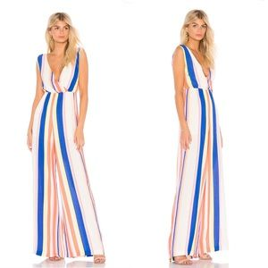 Line & Dot  Rory Jumpsuit in Flamingo
